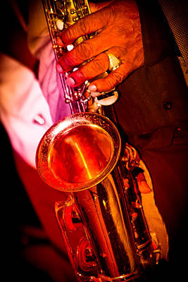 And On The Sax Poster by Bonnes Eyes Fine Art Photography