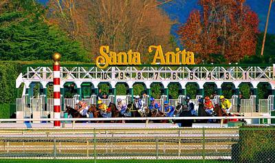 And They're Off At Santa Anita Poster
