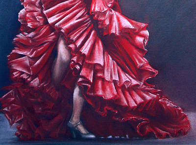 Andalucia Flamenco Poster by Rosemary Colyer
