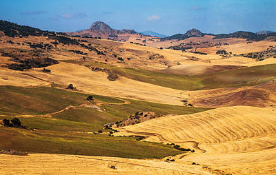 Andalusian Patchwork Fields I. Spain Poster by Jenny Rainbow