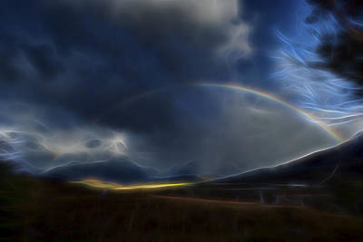 Poster featuring the digital art Andean Rainbow by William Horden