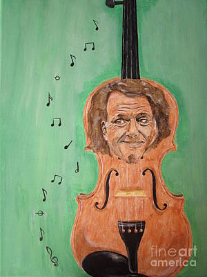 Poster featuring the painting Andre Rieu And His Violin by Jeepee Aero
