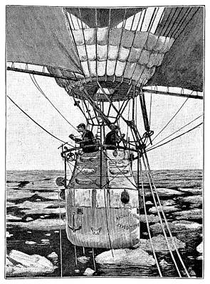 Andree's Arctic Balloon Expedition Poster by Science Photo Library