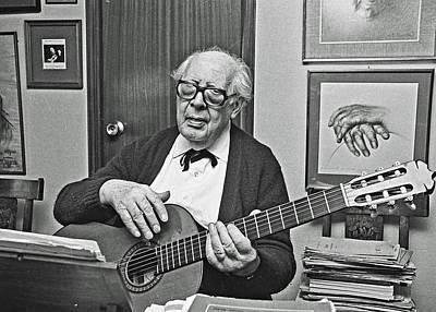 Andres Segovia-musician Poster