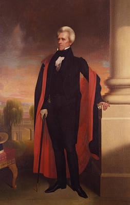Andrew Jackson Standing Poster