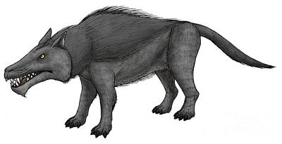 Andrewsarchus, An Ungulate Mammal Poster by Vitor Silva