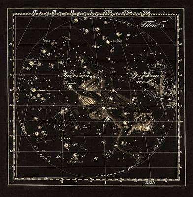 Andromeda Constellations, 1829 Poster