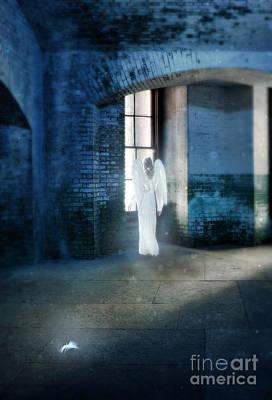 Angel At Window Poster by Jill Battaglia