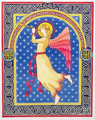 Angel Blowing Trumper Poster by Lavinia Hamer