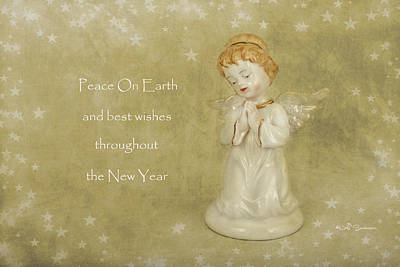 Angel Christmas Card Poster by Jeff Swanson