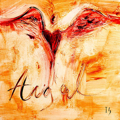 Angel De Amor Poster by Ivan Guaderrama