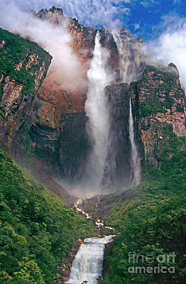 Poster featuring the photograph Angel Falls In Venezuela by Dave Welling