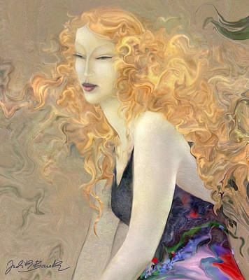 Angel Hair Poster by Judith Barath