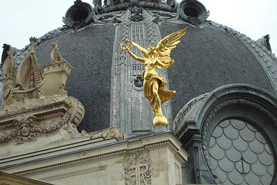Poster featuring the photograph Angel In Paris by Kay Gilley