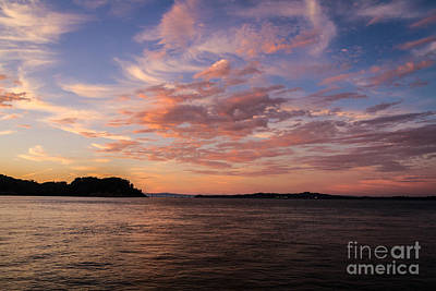 Angel Island Sunset Poster by Mitch Shindelbower