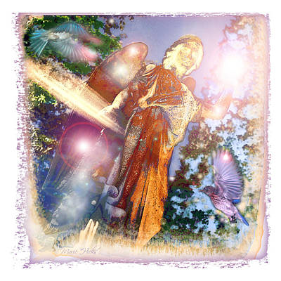 Poster featuring the photograph Angel Light by Marie Hicks