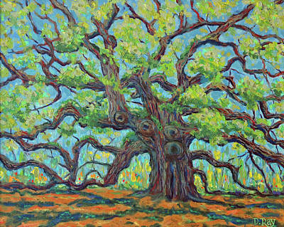 Poster featuring the painting Angel Oak Impression by Dwain Ray