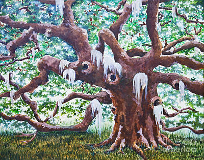 Poster featuring the painting Angel Oak by Melissa Sherbon