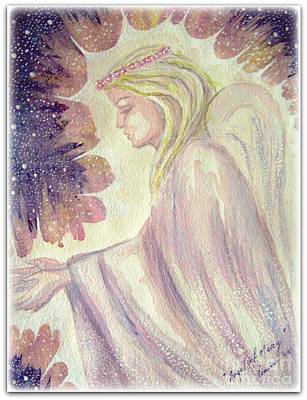 Poster featuring the painting Angel Of Mercy by Leanne Seymour