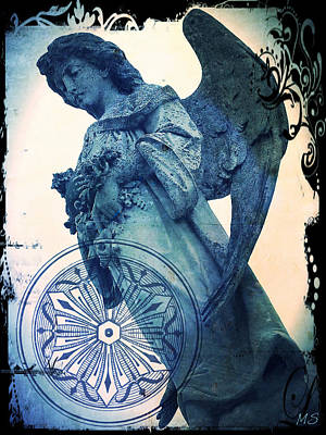 Angel Of Peace - Art Nouveau Poster by Absinthe Art By Michelle LeAnn Scott