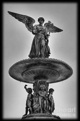 Angel Of The Waters Fountain - Bethesda Iv Poster by Lee Dos Santos
