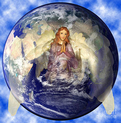Angel Praying For World Peace Poster by The Kepharts