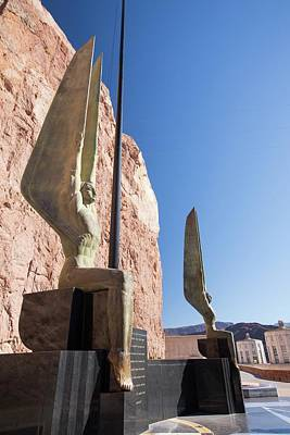 Angel Sculptures At The Hoover Dam Poster by Ashley Cooper
