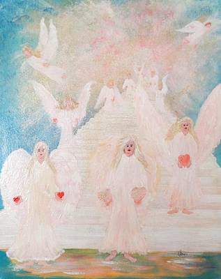 Angel Stairway Poster by Karen Jane Jones
