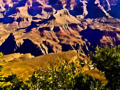 Angel Trail Grand Canyon Poster by Bob and Nadine Johnston