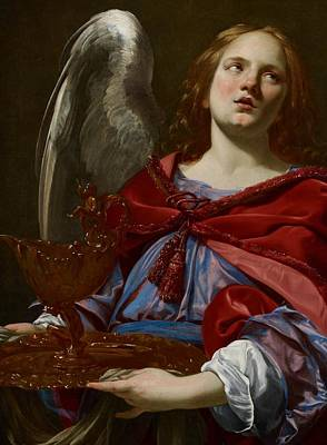 Angel With Attributes Of The Passion Poster by Simon Vouet