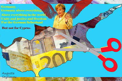 Angela Merkel Legal Robbery Poster