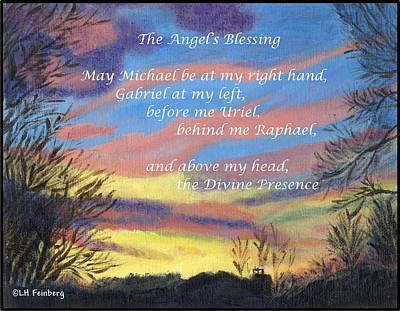 Poster featuring the painting Angel's Blessing by Linda Feinberg