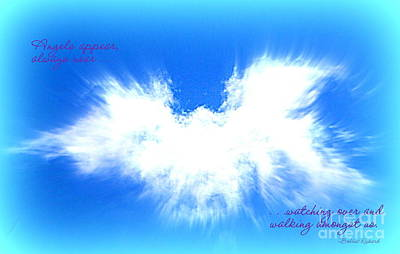 Angels In The Clouds Poster by Bobbee Rickard