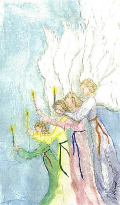 Angels Poster by Jeanne Hyland-Curtin