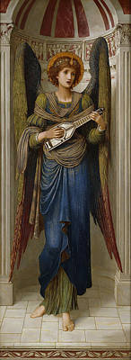 Angels Poster by John Melhuish Strudwick