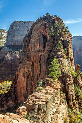 Angels Landing In Zion Poster