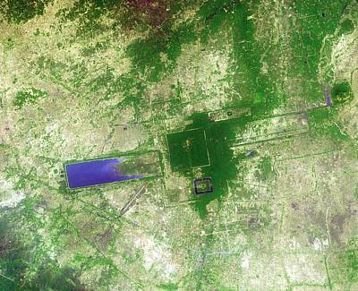 Angkor Poster by Nasa/gsfc/meti/japan Space Systems/u.s.,japan Aster Science Team