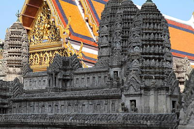 Angkor Wat Model - Grand Palace In Bangkok Thailand - 01132 Poster