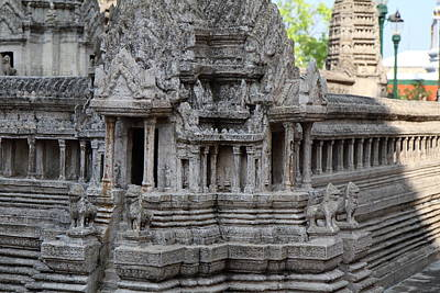 Angkor Wat Model - Grand Palace In Bangkok Thailand - 01133 Poster by DC Photographer
