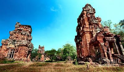 Angkor Wat Ruins Poster by Julian Cook