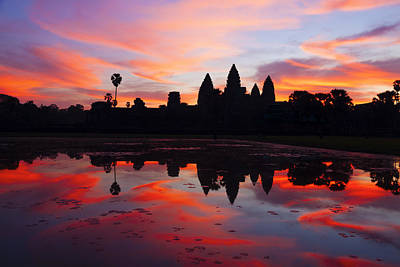 Angkor Wat Sunrise Poster by Alexey Stiop