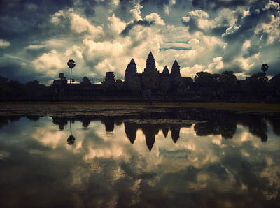 Angkor Wat Sunset Poster by Kim Andelkovic
