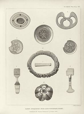 Anglo-saxon Artefacts Poster by Middle Temple Library