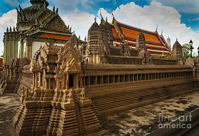 Angor Wat Miniature Poster by Inge Johnsson