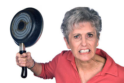 Angry Mother And Frying Pan Poster