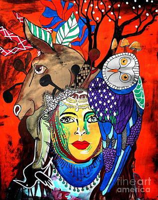 Animal Basket Poster