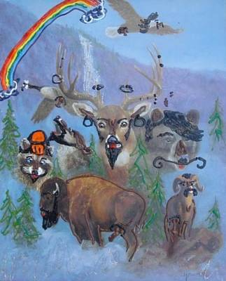 Poster featuring the painting Animal Equality by Lisa Piper