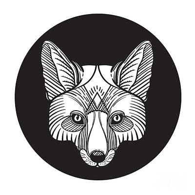 Animal Fox Head Print For Adult Anti Poster