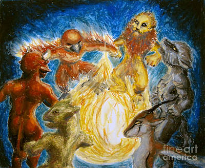 Animal Totem Dancers - Transformed Poster