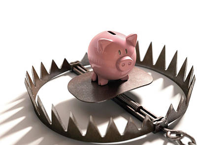 Animal Trap With Piggy Bank Poster by Ktsdesign